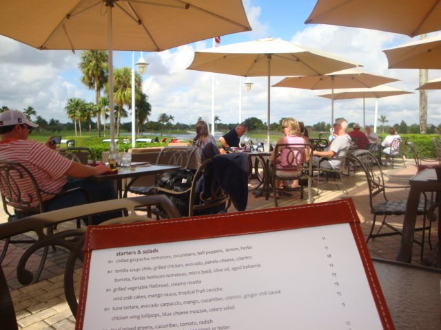 The view from my lunch table. Doral Golf Resort & Spa, Doral, Florida.