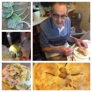 Grandpa with Pie